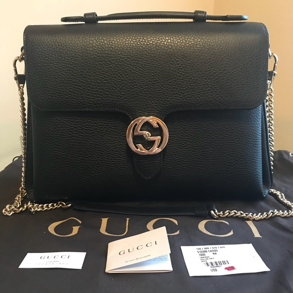 988791bece3 Authentic Gucci Dollar Calf Nero